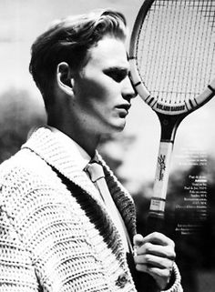 Soul Artist Management - Gerhard Freidl's Portfolio page and index of images. Bookmark for Media Updates, Portfolio Changes and Social Media Stats on Gerhard Freidl, represented by Soul Artist Management in gentlemen. Tennis Photography, Editorial Photography, Fashion Photography, Tennis Fashion, Sport Fashion, Mens Knitted Cardigan, Soul Artist Management, Vintage Tennis, Vintage Men