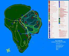 Jurassic Park original map