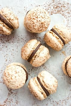 Hazelnut Meringue Sandwich Cookies