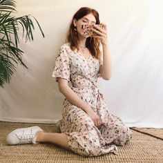 Dreamy dreamy floral sundress, in smooth, floaty cotton with - Depop Source by ninalikestae outfit Aesthetic Fashion, Aesthetic Clothes, Look Fashion, Fashion Outfits, Feminine Fashion, Vintage Outfits, Retro Outfits, Vintage Fashion, Edwardian Fashion