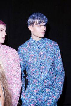 Christopher Shannon Menswear SS14 #floral #ditsy #print