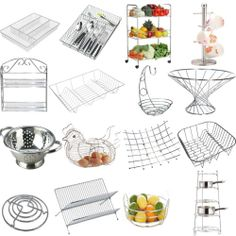 Chrome Plated Stainless Steel Kitchen Rack Holder Basket Cutlery Drainer Quality