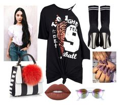 """Untitled #844"" by carmen-lou ❤ liked on Polyvore featuring Boohoo, Fendi, Les Petits Joueurs and Ray-Ban"