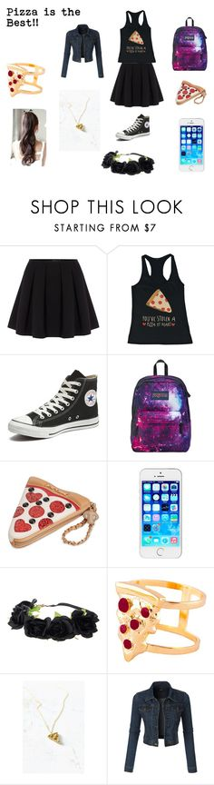 """For Pizza!"" by elizabella0828 on Polyvore featuring Polo Ralph Lauren, Converse, JanSport, Betsey Johnson, Glenda López, VeraMeat, LE3NO, women's clothing, women's fashion and women"