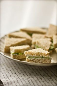 Completed Project: Cucumber Tea Sandwiches With A Chive & Dill Cream Cheese Spread Picture #1