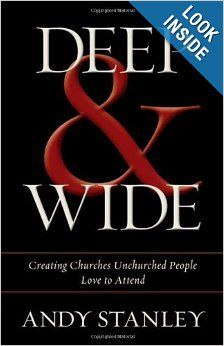 """Read """"Deep and Wide Creating Churches Unchurched People Love to Attend"""" by Andy Stanley available from Rakuten Kobo. Nearly years ago, Jesus started a movement that has grown like wildfire throughout history. Author and pastor Andy. Andy Stanley, Deep And Wide, Spiritual Formation, Thing 1, Reading Levels, Leadership Quotes, Instagram Quotes, Great Books, Along The Way"""