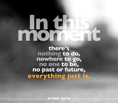 Everything just is | Byron Katie