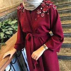 51 Modest Fashion Trends You Will Definitely Want To Save - Fashion New Trends :. - 51 Modest Fashion Trends You Will Definitely Want To Save – Fashion New Trends : - Arab Fashion, Islamic Fashion, Muslim Fashion, Modest Fashion, Fashion Outfits, Fashion Trends, Hijab Gown, Hijab Outfit, Abaya Designs