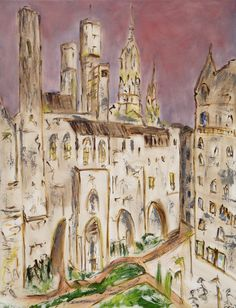Barrio gótico Barcelona pintura# Cuadro sobre Barcelona Barrio gótico## Pinturas sobre Barcelona# pinturas murales#