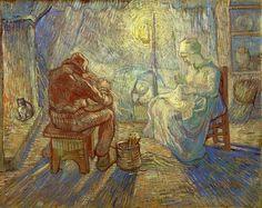 The Athenaeum - Evening (after Millet) (Vincent van Gogh - )
