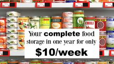 It's a new year! Let's get your food storage started! Having a backup supply of food is great not only for emergencies, but you also never run out of ingredients. Gone are the phone calls to your neighbor for a … Emergency Preparedness Food, Emergency Food Storage, Emergency Food Supply, Emergency Preparation, Emergency Supplies, Survival Food, Survival Prepping, Survival Skills, Survival Stuff