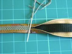 Hand stitching, leather strap