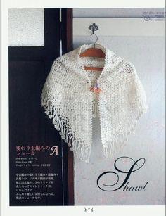 Crochet Crochet Shawls And Wraps, Crochet Poncho, Knitted Shawls, Knit Or Crochet, Crochet Scarves, Shawl Patterns, Crochet Patterns, Japanese Crochet, Crochet Triangle