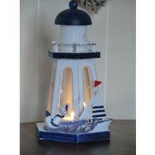Lighthouse Tealight Lantern 9.25 www.dressmyhome.ie
