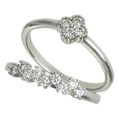 Miss Selfridge Cubic Zirconia Stone Band ($15) ❤ liked on Polyvore featuring jewelry, rings, silver, cz band ring, cubic zirconia rings, cz jewelry, cubic zirconia band rings and zirconia jewelry