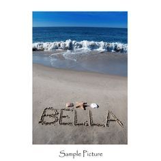 Personalized Sandwriting Photograph- Names in the Sand 8x10 on Etsy, $28.00