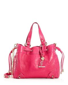 Juicy Couture Dylan Leather Mini Daydreamer purse, pink