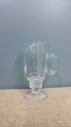 Coffee or Tea works well in our wonderful glassed stemmed mugs.