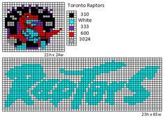 Toronto Raptors logo and name plate Cross Stitch House, Cross Stitch Boards, Cross Stitch Bookmarks, Beaded Cross Stitch, Tapestry Crochet Patterns, Bead Loom Patterns, Cross Stitch Patterns, Plastic Canvas Ornaments, Plastic Canvas Patterns