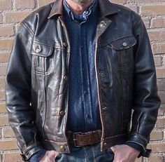 VERY RARE LEE Riders Leather jacket XL (collectors item) | eBay