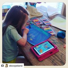 Look at the streams of light this artist created with chalk pastels! Makes the water just dance. I love this scene so much. Yes, #YouAREanArtist  #Repost @ebcopeland with @repostapp ・・・ It's a chalk pastels kind of day around here. What's happening at your table today? #ihsnet #homeschool #youareanartist #findingdory