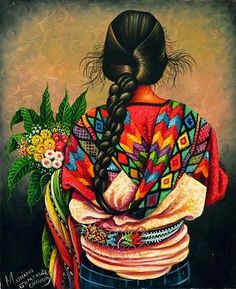Illustratus: Arte Maia - GuatemalaYou can find Mexican art and more on our website. Mexican Artwork, Mexican Paintings, Mexican Folk Art, Art And Illustration, Guatemalan Art, Latino Art, Mexico Art, Southwest Art, Indigenous Art