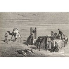 A Well In The Desert Between Samarkand And Karshi Uzbekistan In The 19Th Century From El Mundo En La Mano Published 1878 Canvas Art - Ken Welsh Design Pics (18 x 11)