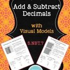 This unit contains two mini-lessons:  one on adding decimals and one on subtracting decimals, using visual models as well as the standard algorithm...