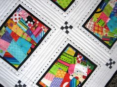 Love this scrappy quilt