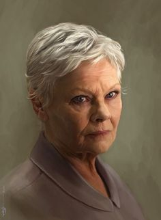 Portrait of Dame Judith Dench from enclase on deviant art. Absolutely breath-taking.
