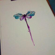 #tattoo #tattoos #tatuaje #tatuagem #ink #inked #libelula #dragonfly #aquarela #watercolor #draw #dr - jackemichaelsen
