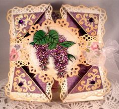 Napkin Fold-Lilacs In the Summer by Gingerbeary8 - Cards and Paper Crafts at Splitcoaststampers