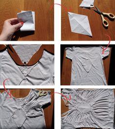DIY : Cut out diamond shape top // Top découpé dos losange | DIY BLOGDIY BLOG