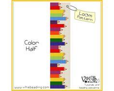 Bead Loom Pattern  Color Half   INSTANT DOWNLOAD pdf