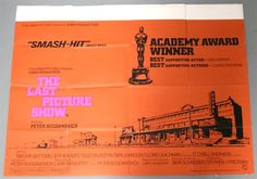 Lot 27 - Original UK Quad cinema poster for The Last Picture Show (1971), slight fold-line wear, pin-holes to