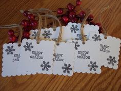 Hand-Made Christmas Gift Tags Set of 8 by CreativeCraftBtq on Etsy, $6.00