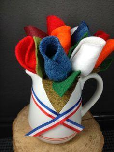 Hollandse tulpen decoratie! #koningsdag #orange #netherlands