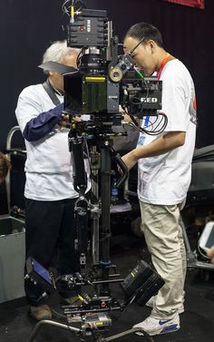#3D camera on @Movcam #stabilizer displayed at #RED booth #AVANT-T #pro-max-a #screenplane