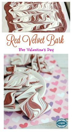 This red velvet bark is super simple, using only 2 ingredients and can be whipped up in no time. Perfect for V-Day or just because you need a chocolate fix.