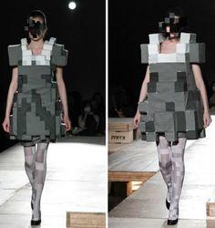 pixelated dress - kunihiko morinaga [+ 11 more pixelated objects/designs]