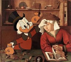 Cartoons in famous art