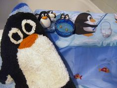 penguin shower curtains | Penguin Bath Set, Rug, Soap Dish, Shower Curtain & Toothbrush Holder ...