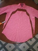 Little girls dress from mans button up shirt.