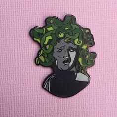 Medusa- Hard Enamel Pin by SaladDaysPins on Etsy https://www.etsy.com/listing/280708610/medusa-hard-enamel-pin