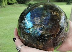Extra Large Gorgeous Labradorite Sphere by GrayVervain on Etsy, $485.00