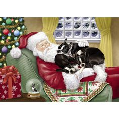 Boston Terrier Christmas Cards | Boston Terrier Holiday Cards - The Danbury Mint