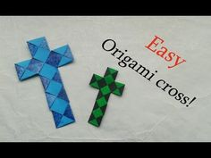 Easy Origami Paperstrip Cross (Tutorial) - YouTube