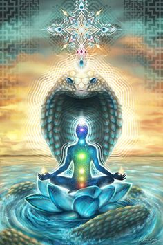 Visionary Artist Olivia Curry Kundalini Hippie Tapestry by Third Eye Tapestries Tantra, Kundalini Yoga, Yoga Meditation, Merkaba Meditation, Om Gam Ganapataye Namaha, Art Visionnaire, Les Chakras, Psy Art, Mystique