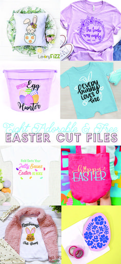 Find all of these cute, free cut files! Make your own Easter baskets, t-shirts, home decor, and more with these free SVG cut files and your Silhouette or Cricut.