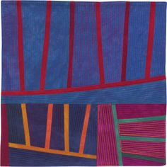Abstract Contemporary Textile Painting / Art Quilt - Structures #127 ©2011 Lisa Call